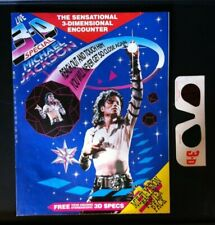 VERY RARE! Michael Jackson Multi 3D Giant Poster Mag with Stereoscopic 3-D Specs