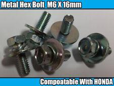 5x Honda Metal Hex Boulon AVEC captif rondelle M6X16 OEM 93405-0601608 avec O ring