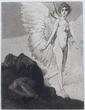 "[Erotica] Rudolf Jettmar Original 1902 Etching ""Dichtertraum"""