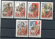 RUSSIA YR 1958,SC 2135-40,MI 2160-65,MNH,YOUNG COMMUNIST LEAGUE(KOMSOMOL)
