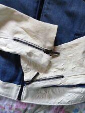 Coole, seltene Denim-Lederjacke Jaded by Knight Leather Jacket Leder Jacke Gr. S