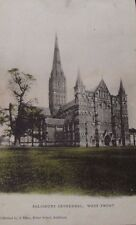 Salisbury Cathedral.West Front Postmarked 1905. Wykeham Collection.AH6427.
