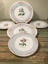 The Royal Horticultural Society Queens Redoutes Roses Salad & Bread Plates