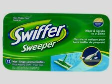 SWIFFER Sweeper Wet Mop Refills 12ct Cloths Pads Floor Cleaner System 35154 NEW!