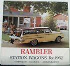 1962 AMC Rambler American Classic Ambassador Station Wagons Sales Brochure
