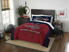 "Washington Capitals  Full/Queen Comforter & Shams Set ""Draft"" Official NHL"