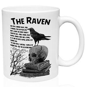 RAVEN EDGAR ALLAN POE 11oz Ceramic High Quality Coffee Mug