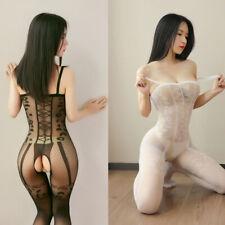 Calza corpo catsuit tuta attillata trasparente apertura cavallo lingerie erotica