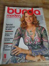 MAGAZINE BURDA MODEN VINTAGE SPECIAL QUE PORTER LE SOIR ?? NOVEMBRE  1975