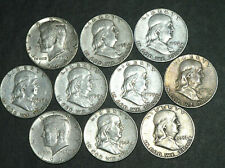 "New ListingLot: $5.00 Face Value Us 90% Silver Coins, ""Junk Silver"",pre-1965 - Half Dollar"