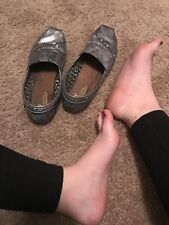 Well Worn Womens Shoes, Flats, Toms, Used, Size 8.5