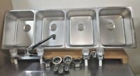 4 Large Compartment Concession Sinks, 3 Dish & 1 Hand Washing Sink