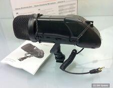 Walimex Pro 18320 Stereomikrofon für DSLR Kamera mit Videofunktion, Schwarz, NEU