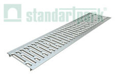 "Standartpark - Galvanized Stamped Steel Grate for 8"" inch trench drain."