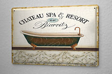 Tin Sign  Bath Spa Biarritz  Metal Plate