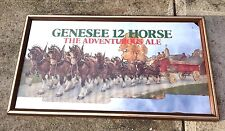 New listing Genesee Mirror 12 Horse Ale Beer Framed Sign 12X23