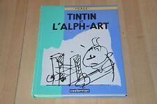 BD Tintin et l'Alph-Art / Hergé - découpages graphiques et dialogues - EO 1986