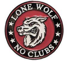 Lone Wolf No BICICLETA Clubes motero rockero Esmalte metálico Moto Insignia