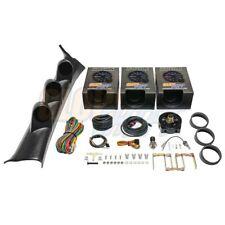GlowShift Boost, Oil Psi, Oil Temp Gauges + Pod for 08-14 Subaru Impreza Wrx