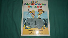 CACHE-CACHE AU ZOO - Livre POP-HOP / UP - J'apprends à compter - ROUGE ET OR TBE