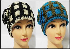 Men women soft Headband Knit crochet ear muff handmade fleece lining made nepal