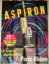 Original French 1950s Aspiron Vacuum poster by Jacques Auriac — GREAT COLORS!!!!