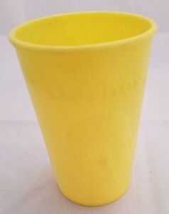Vintage Yellow Gerber Products Baby Face Infant CUP Plastic USA 1950s-1960s