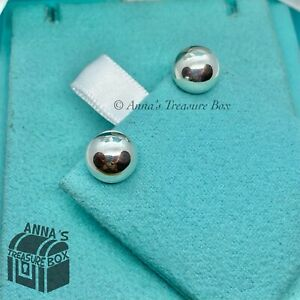 Tiffany & Co. 925 Silver Hardwear Bead Ball 10mm Earrings (Pouch)