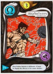 71 HEPHAISTOS - CARTE DEUS - SERIE I 1996 VF [ NEUF MINT ] BRILLANTE ARGENT