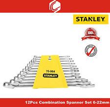 Stanley – 12Pcs Combination Spanner Set – 6-22mm – 70-964E - Matte Finish