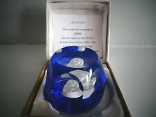 Cristalleries D' Albret LINDBERG Sulphide Paperweight Faceted Limited Edition