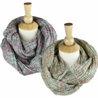 Women's Winter Warm Infinity Cable Knit Cowl Neck Long Scarf Shawl