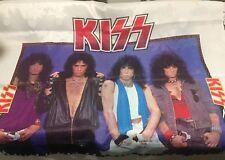 "VINTAGE - KISS Nylon Flag Banner - 1985 46 x 46"""