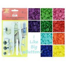 KAM Snaps 250 Rainbow Spectrum Starter Pack Kit/Pliers Plastic Snap/Cloth Diaper