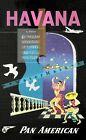Havana Cuba 1950 Fly Pan American Vintage Poster Print Retro Airline Wall Decor