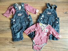 Pumpkin Patch Baby Boys Little Bus Dungarees Age Newborn TWO SETS for TWINS