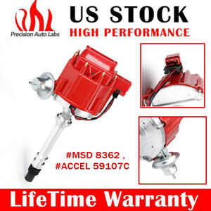 HEI Red Electronic Distributor Cap for Chevy SBC 350 BBC 454 65K Small Block 5.7