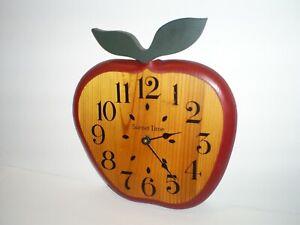 Vintage Wood APPLE Wall Clock