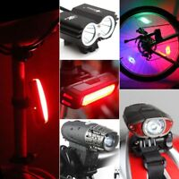 Bicycle Solar Headlight Warn Tail Light Rechargeable Safe Bike Rear Lamp UP