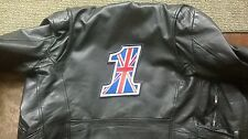 #1 Union Jack back patch. 8 inch Rocker Ace Cafe Racer Triumph 59 Club Biker