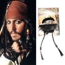 Pirates of the Caribbean Jack Sparrow Cosplay Pirate Mustache Goatee Costume