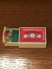 Hallmark Merry Mouse Sleeping Holiday Button Co Box Matchbox 1984 No Box