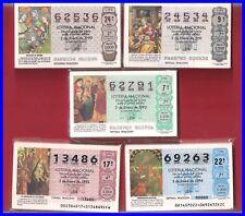 LOTE 5 AÑOS COMPLETOS  DEL 1990 AL 1994, LOTERIA NACIONAL DEL SABADO