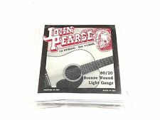 John Pearse Guitar Strings 12 String Set Bronze Wound LIght Gauge 1300L