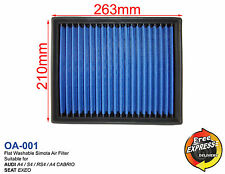 SIMOTA air filter blue washable for Audi A4 S4 RS4 Cabrio Seat Exeo OA-001
