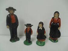 Lead Metal Amish Dutch Farm Family Toy Set Vintage