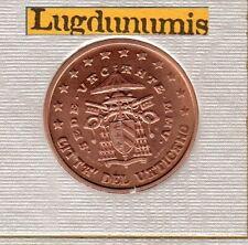 Vatican 2005 5 Centimes D'Euro BU FDC Siege Vacant 60000 exemplaire Provenant BU