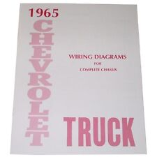 1965 Wiring Diagrams Booklet Chevrolet Pickup Truck