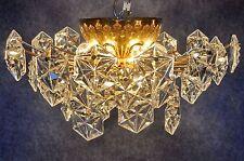 großer seltener KINKELDEY Kristall Messing Lüster  Deckenleuchte Kalmar Ära