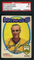 Harry Howell 1971 72 OPC Vintage SGC Coa Autograph Authentic Hand Signed